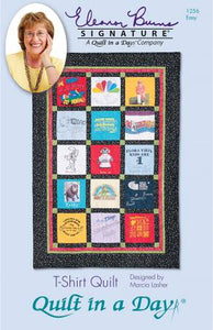T-Shirt Quilt in a Day, Eleanor Burns, Quick & Easy Memory Quilt pattern 1256