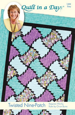 Twisted Nine-Patch Pattern by Quilt in a Day, Eleanor Burns, 1299 Easy