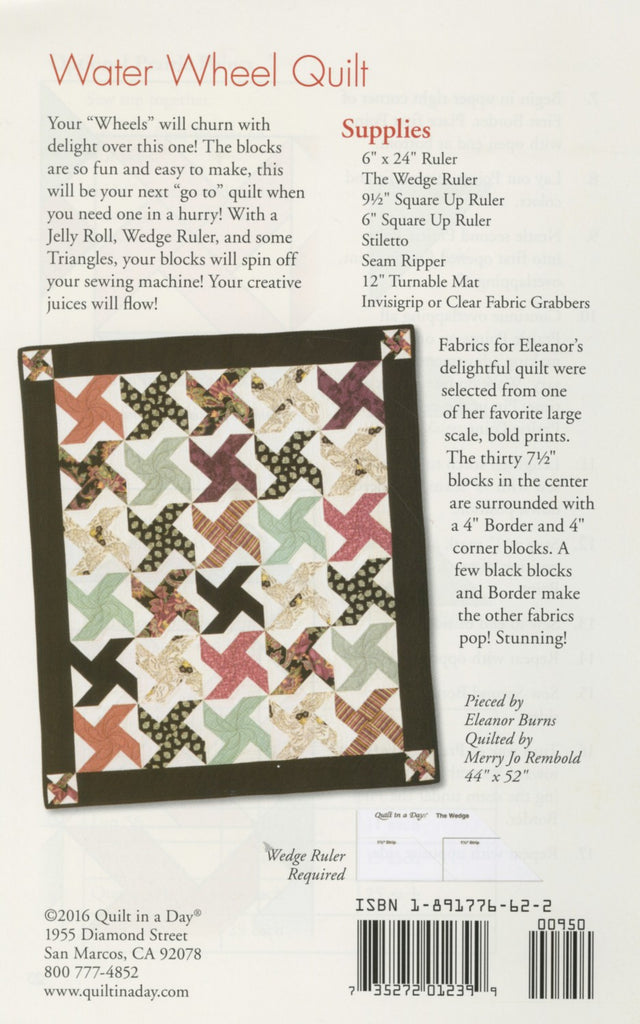 Water Wheel Quilt Pattern From Quilt In A Day Eleanor Burns Easy 1239