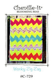 Wonky Zig Zag Baby Quilt Pattern #C-729 by Chenille-It