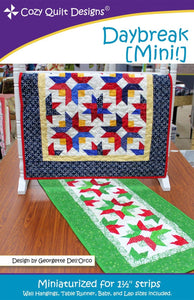 Daybreak [Mini] quilt pattern from Cozy Quilt.