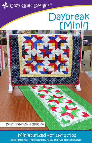 Daybreak [Mini] quilt pattern from Cozy Quilt Designs # CQD01161