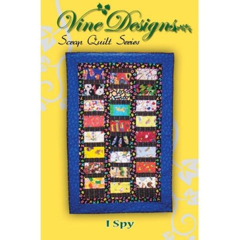 I Spy Daycare Cot Quilt Pattern, Vines Designs Scrap Quilt, Crib/Preschool Nap