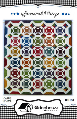 Savannah Breeze Quilt Pattern #IDN81 by In the Doghouse Designs