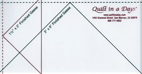 Small Flying Geese Ruler, Quilt in a Day from Eleanor Burns 2006QD