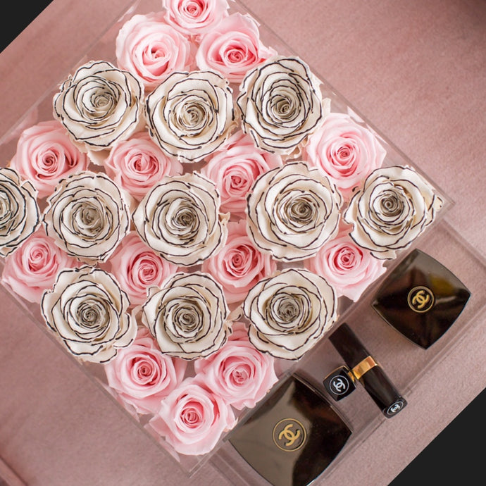 12.  Le25 Eternal Roses - with Drawer (Home Decor series)