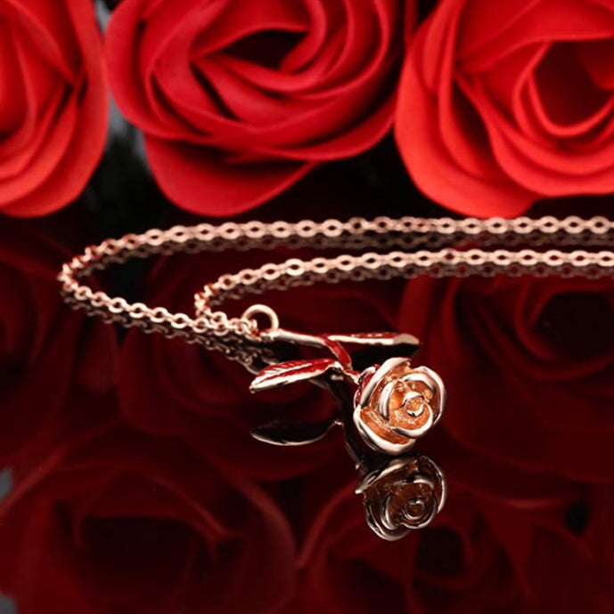 16.  24K Rose pendant in RoseGold (plated)