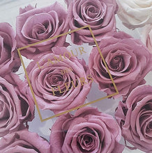 Load image into Gallery viewer, 03.  Acrylic 9 Preserved Roses - with Pearls