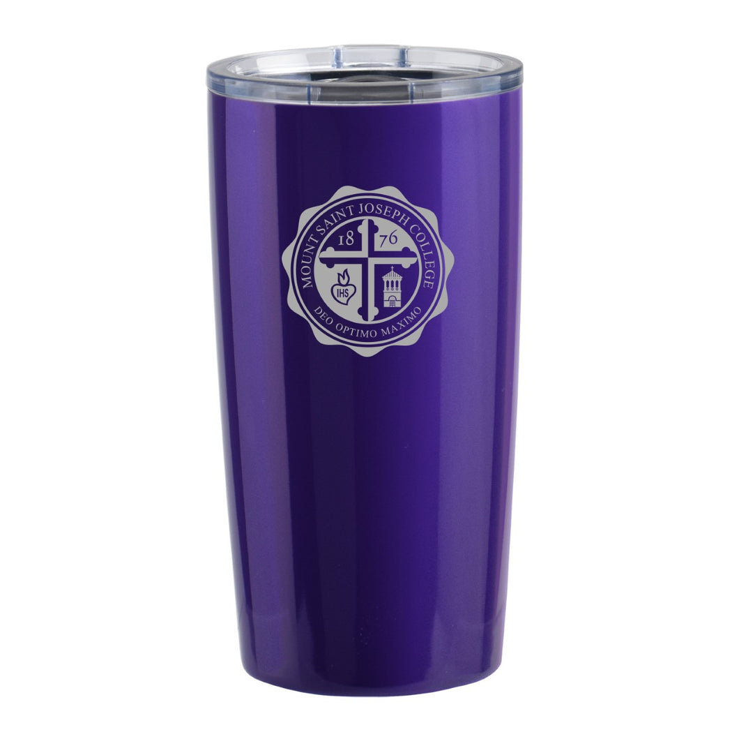 Stainless Travel Mug w/clear lid