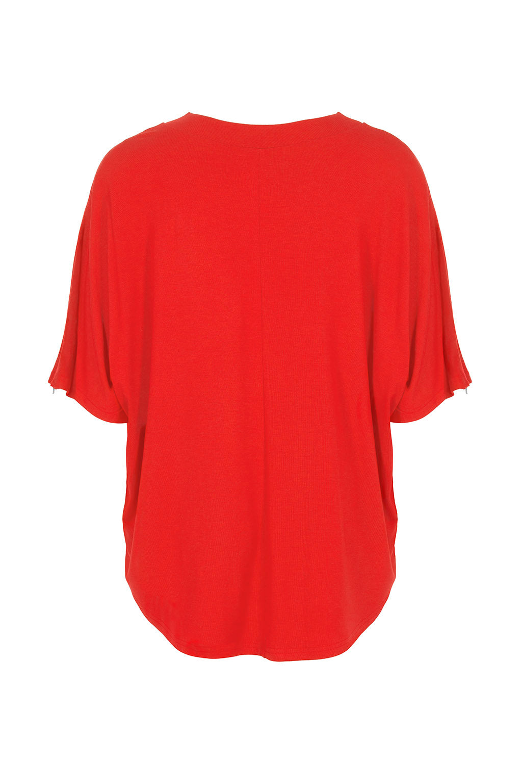 Nursing T-shirt in Red - Zip Breastfeeding Access - Minerva by Sarka London - Front View