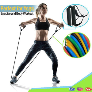 11 Piece/set Resistance Band - Perfect for Yoga, Resistance Training and Body Workout - Tipid Mania