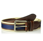 Tommy Hilfiger Men's Casual Fabric Belt (Khaki/Brown/Navy)