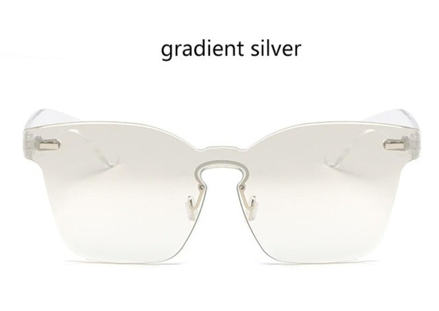 Rimless Square Sun Glasses