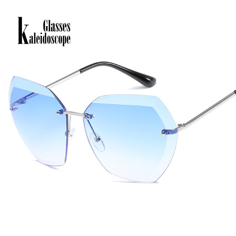Oversize Female Frameless Sunglasses