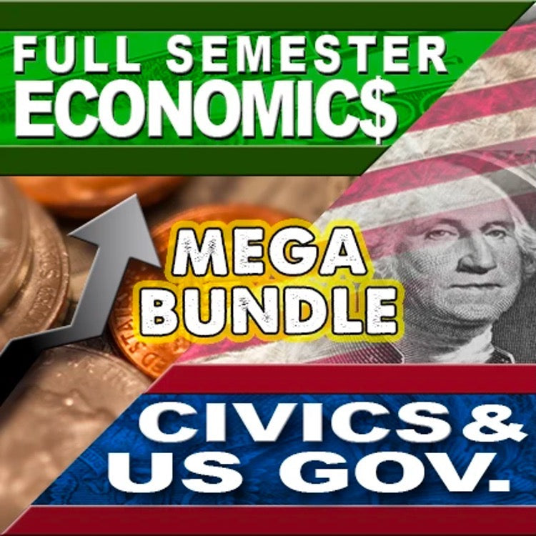Economics Semester and Civics Semester Mega Bundle | GOOGLE DRIVE