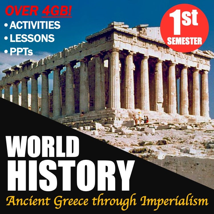 World History First Semester Bundle | Ancient Greece to Imperialism