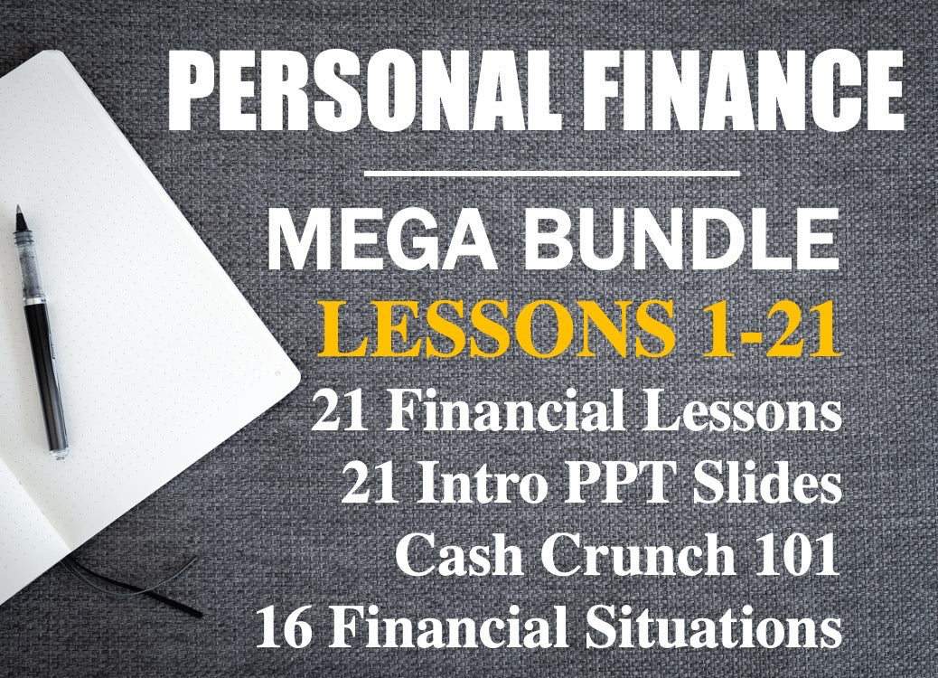 Personal Finance Mega Bundle | 21 Engaging Activities, PPTs, and Lesson Plans