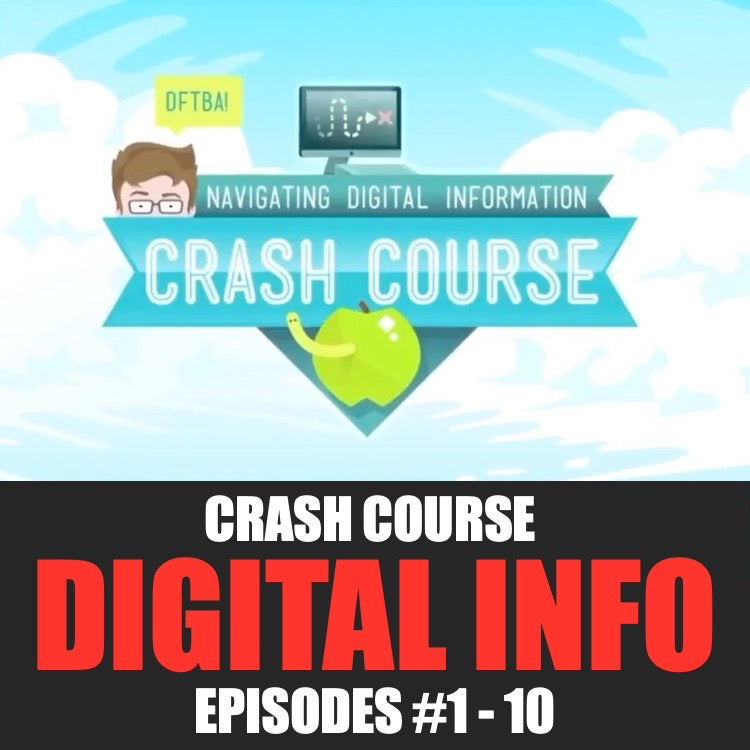 Crash Course Worksheets Bundle | Navigating Digital Information