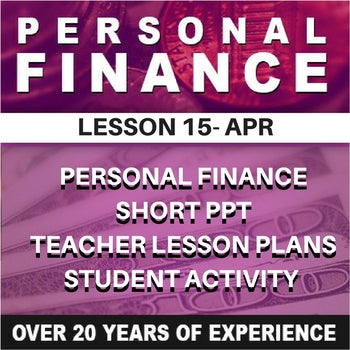 Personal Finance Lesson 15 | APR