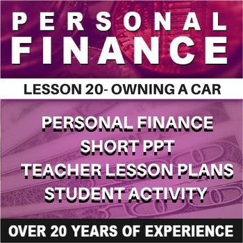 Personal Finance Lesson 20 | Owning a Car