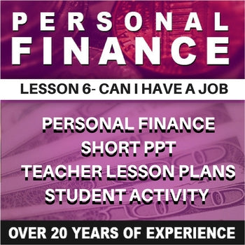 Personal Finance Lesson 6 | Can I Have a Job