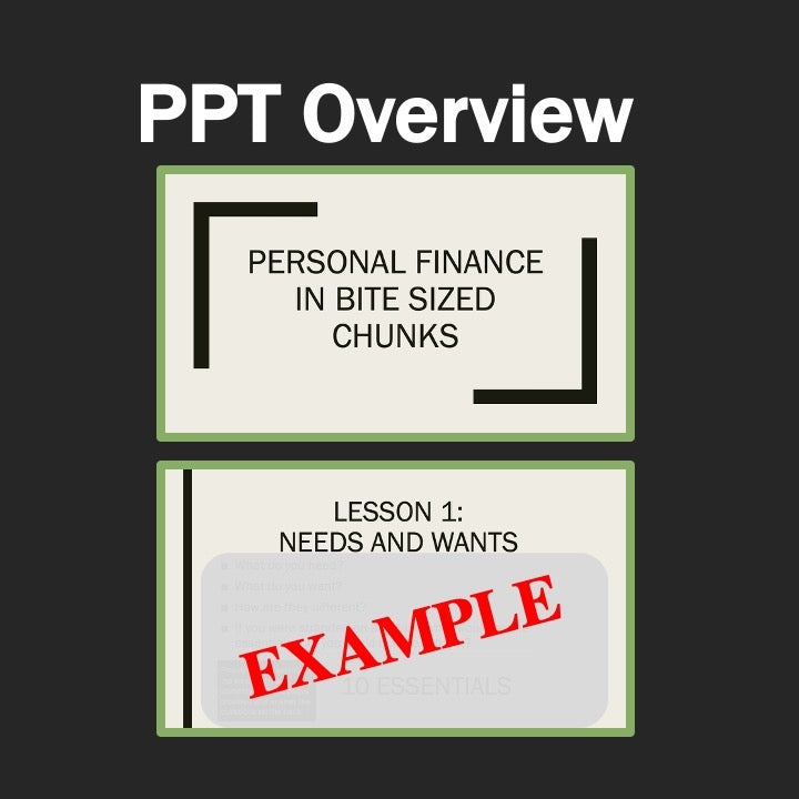 Personal Finance Lesson 1 | Needs and Wants