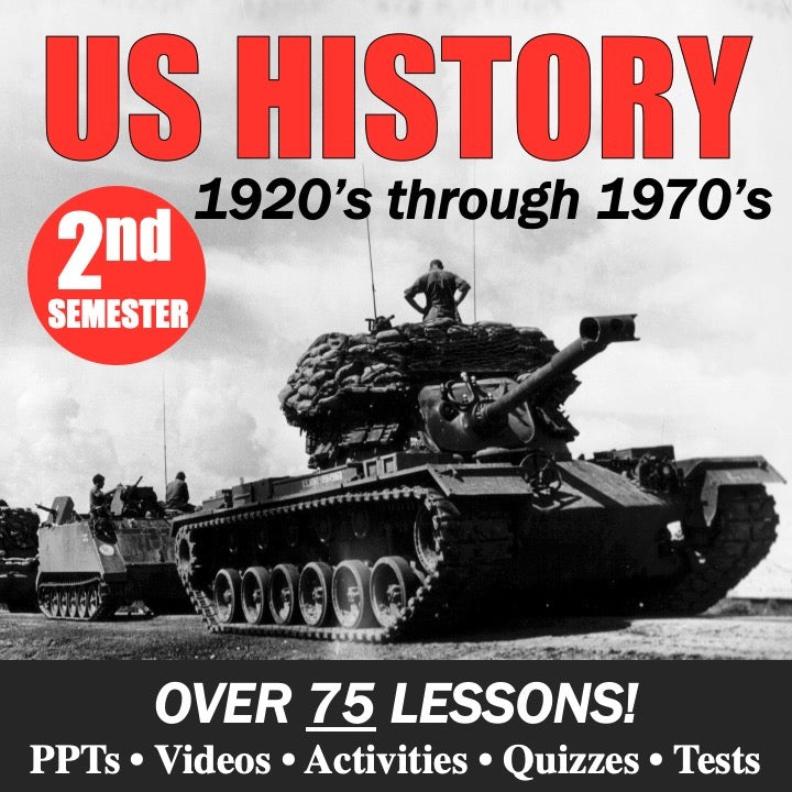 US History Second Semester Bundle | 1920's - 1970's