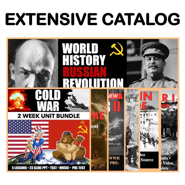 World History Second Semester Bundle | World War I to Cold War