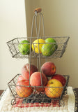 Two-Tier Wire Basket