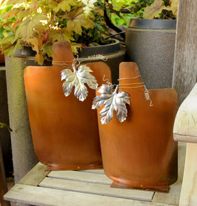 Large Patina Pumpkin Set