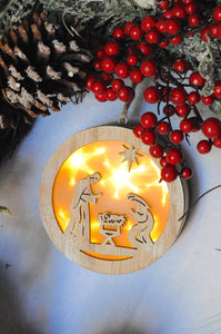 Lighted Nativity Ornament