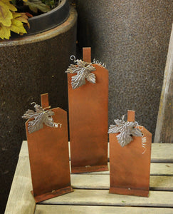 Small Patina Pumpkin Set