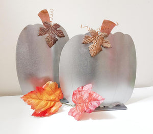 Polished Steel Pumpkin Set