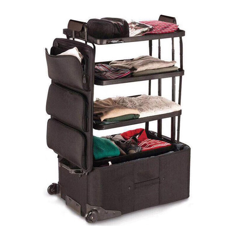 Large Capacity Pull-Out Shelving Luggage