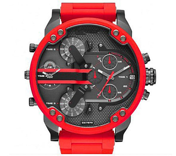 Red Large Dial Casual Men's Watch