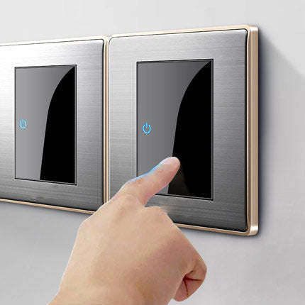 Modern Brushed Click LED Wall Switch