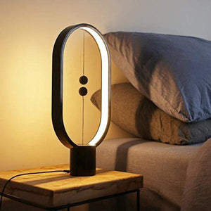 (TODAY FREE SHIPPING)Hot Selling!!!Balance lamp - Ellipse Magnetic mid-air Switch USB Powered LED lamp, Warm Eye-Care LED Lamp, Night Lamp, Table Lamp, Decoration for Bedroom, Living Room, Dining Room and Office