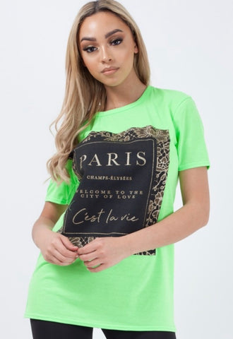 Paris Glamour Shirt (Available in 2 Colors)