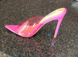 Pink Pointed Toe Slip-Ins