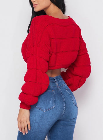 Ribbed Crop Swaeter