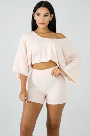 Blush Jogger Short Set