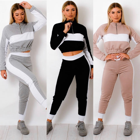 Zipped Jogger Set