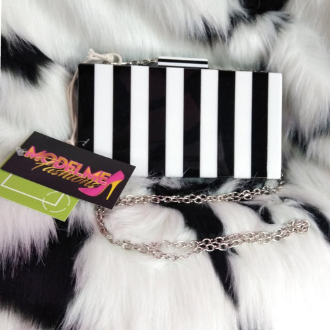 Striped Chain Purse