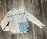 Neon Trim Denim Jacket