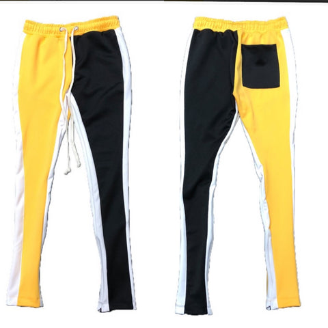 Black n Yellow Joggers