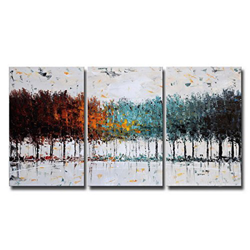 Forest Contemporary Oil Painting 3 Piece