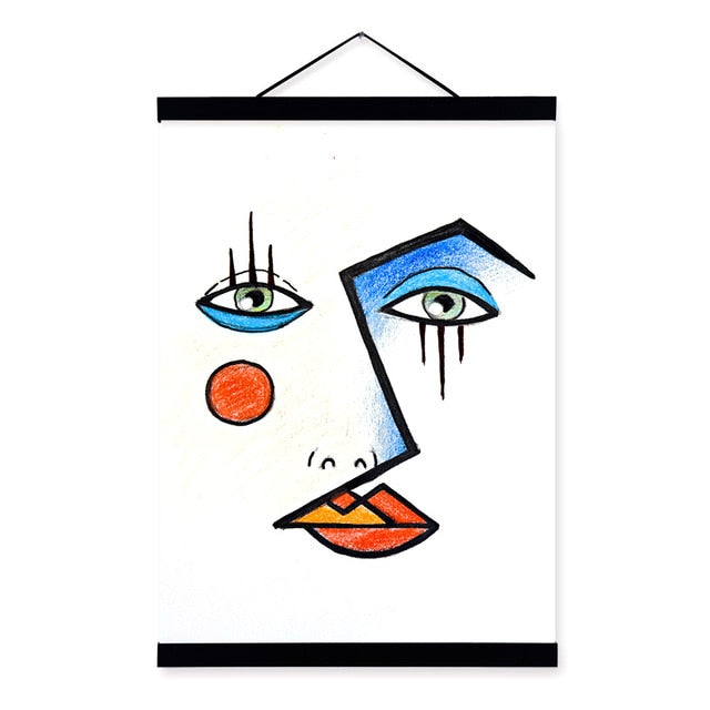 Contemporary Abstract Face Picasso Wall Art