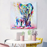Contemporary Elephant Canvas Wall Art