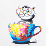 Contemporary Cat Canvas Painting Wall Art
