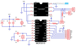 MCP2515 CAN Bus Module TJA1050 Receiver SPI
